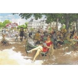 Carte postale de Blacksad, Tendre moment en terrasse (10x15cm)