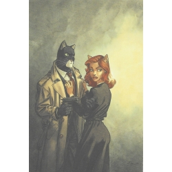 Carte postale de Blacksad, John et Natalia Willford  (10x15cm)