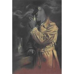 Carte postale de Blacksad, Portrait à la cigarette de John (10x15cm)