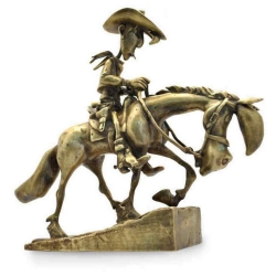 Collectible bronze figurine Pixi Lucky Luke and Jolly Jumper 5498 (2020)