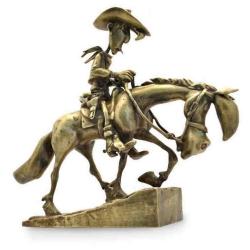 Figurine de collection en bronze Pixi Lucky Luke et Jolly Jumper 5498 (2020)