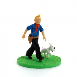 Collectible box scene figure Tintin Cowboy Moulinsart 43101 (2011)