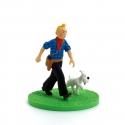 Collectible box scene figure Tintin Cowboy Moulinsart 43101 (2011)