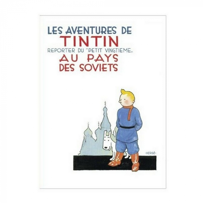 Poster Moulinsart Tintin Album: Tintin in the Land of the Soviets 22230 (70x50cm)