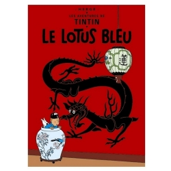 Poster Moulinsart Tintin Album: The Blue Lotus 22040 (70x50cm)