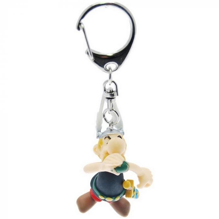 Porte-clés figurine Plastoy Astérix buvant de la potion magique 60389 (2015)