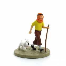 Collectible box scene figure Tintin in the desert Moulinsart 43102 (2011)