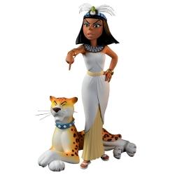 Figurine de collection Fariboles Astérix, Cléopâtre et sa panthère (2020)