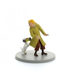 Figura / Cofre Tintín y Milú con la lata de cangrejo Moulinsart 43112 (2011)