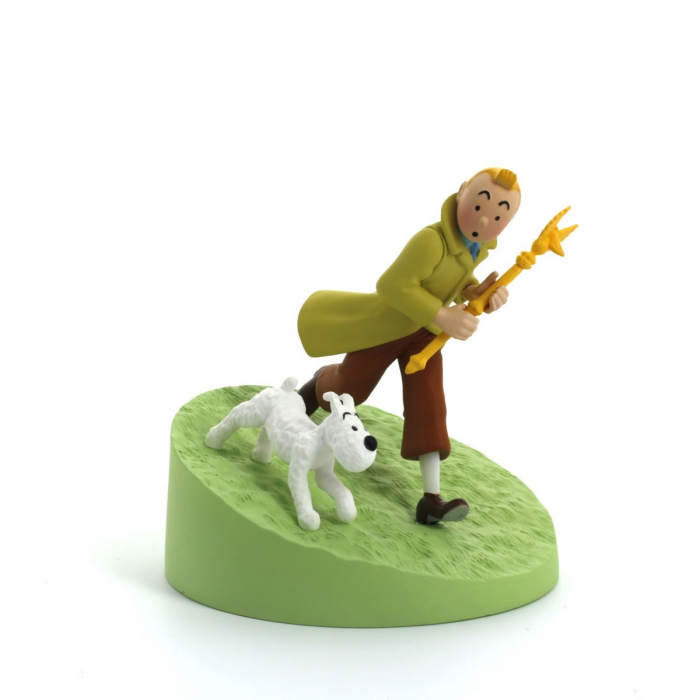 Collection Box scene Figurine Tintin holding the sceptre Moulinsart 43113 (2010)