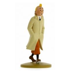 Figura de colección Tintín caminando gabardina 13cm + Librito Nº01 (2011)