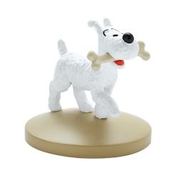 Figurine de collection Tintin, Milou avec son os 5cm Nº05 (2012)