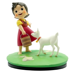 Figurine de collection LMZ Heidi, fille des Alpes et blanchette (2020)