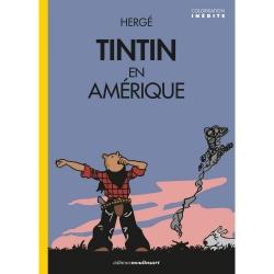 Album Les Aventures de Tintin T3 - Tintin en Amérique version colorisée (2020)