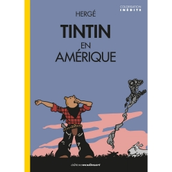Album The Adventures of Tintin T3 - Tintin in America color version (2020)