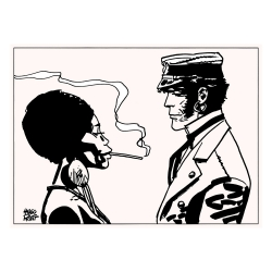 Silkscreen printing Corto Maltese, Golden mouth (40x30cm)