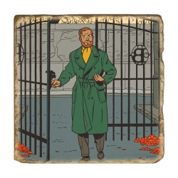 Collectible marble sign Blake and Mortimer The Scream of Moloch (20x20cm)