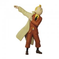 Figura de colección Tintín poniéndose la gabardina 8,5cm Moulinsart 42473 (2011)