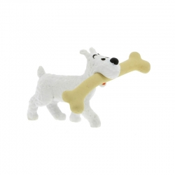 Collection figurine Tintin Snowy with his bone 4,5cm Moulinsart 42504 (2012)