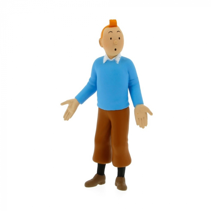 Collection figurine Tintin wearing a blue sweater 8,5cm Moulinsart 42502 (2012)
