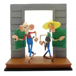 Figura de colección LMZ Lucky Luke, Los rivales de Painful Gulch 19cm (2020)