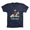 Camiseta 100% algodón Lucky Luke y Jolly Jumper en un campo de algodón (Azul)