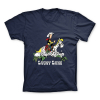 T-shirt 100% cotton Lucky Luke and Jolly Jumper in a cotton field (Blue)