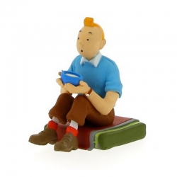 Collection figurine Tintin sitting 3,6cm Moulinsart 42450 (2010)