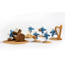 Saynète collection Fariboles avec figurines, Orchestre des Schtroumpfs P3 (2020)