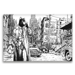 Imán decorativo Blacksad, Nueva York (79x55mm)
