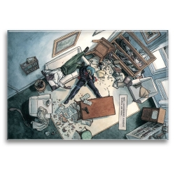 Imán decorativo Blacksad, escena de crimen (79x55mm)