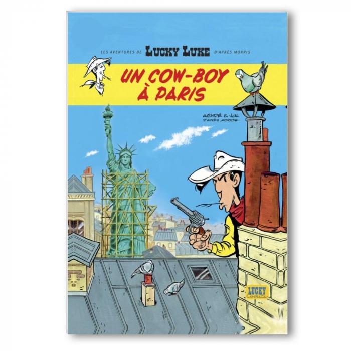 Imán decorativo Lucky Luke, Un cowboy à Paris (55x79mm)