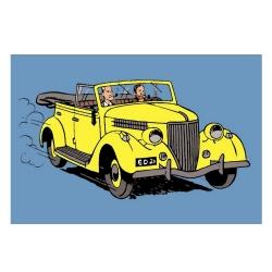 Postal de Blake y Mortimer: El convertible amarillo (15x10cm)