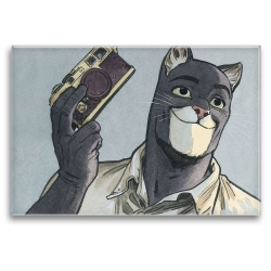 Decorative magnet Blacksad, John Photographer (79x55mm)