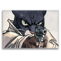 Aimant magnet décoratif Blacksad, John avec le pistolet (79x55mm)