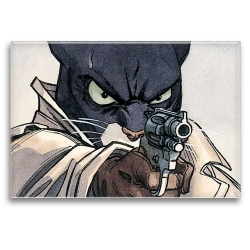 Imán decorativo Blacksad, John con la pistola (79x55mm)
