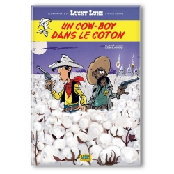 Imán decorativo Lucky Luke, Un cowboy en el algodón (55x79mm)