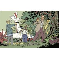Carte postale de Blake et Mortimer: le crash de l'avion (15x10cm)