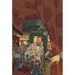Postal de Blake y Mortimer: en la tienda de antigüedades (10x15cm)