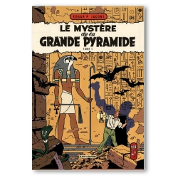 Aimant magnet décoratif Blake et Mortimer, Grande Pyramide T1 (79x55mm)