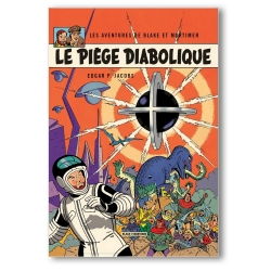 Decorative magnet Blake and Mortimer, Le Piège Diabolique (55x79mm)