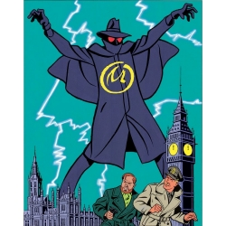 Postcard Blake and Mortimer Album: The Yellow Mark 1953 (10x15cm)