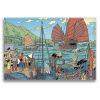 Decorative magnet Blake and Mortimer, the port (79x55mm)