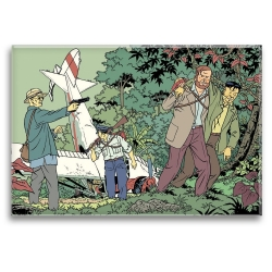 Decorative magnet Blake and Mortimer, the plane crash (79x55mm)