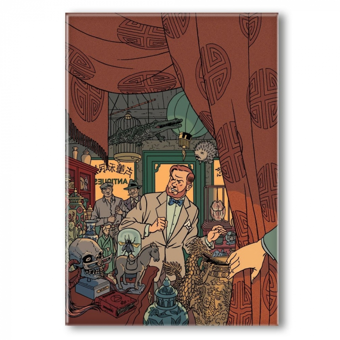 Decorative magnet Blake and Mortimer, in the antique store (55x79mm)