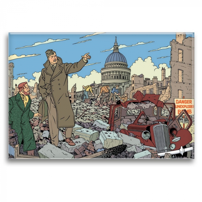 Decorative magnet Blake and Mortimer, ruined city (79x55mm)