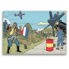 Decorative magnet Blake and Mortimer, attack on the tarmac (79x55mm)