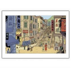 Poster offset Blake and Mortimer, Mortimer as a lookout (35,5x28cm)