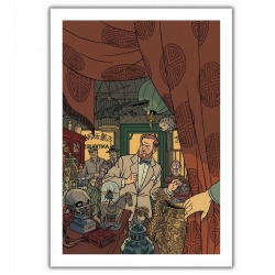 Poster offset Blake and Mortimer, in the antique store (28x35,5cm)