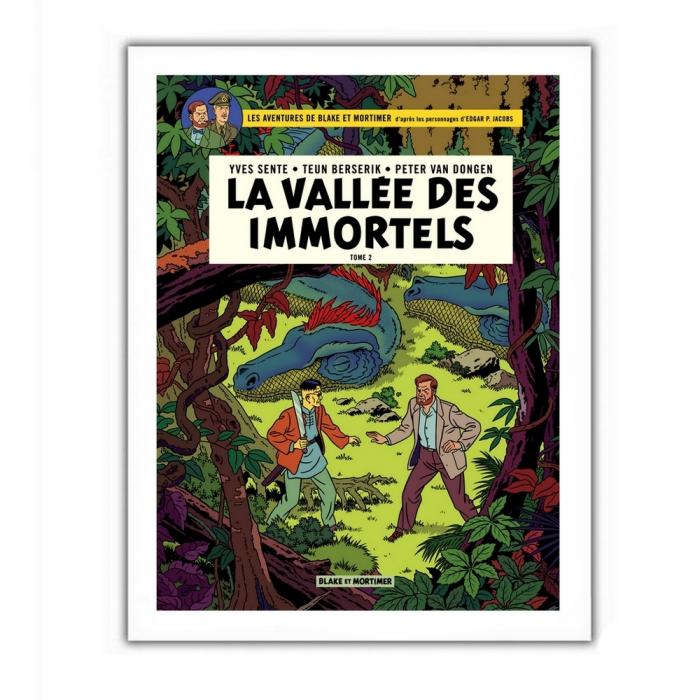 Poster offset Blake and Mortimer, La vallée des immortels T2 (28x35,5cm)